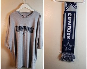 Dallas cowboys  tshirt/scarf bundle